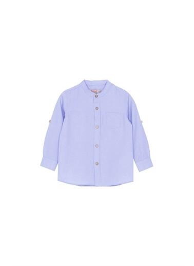 Silversun Kids M Yaka Cepli Uzun Kol Erkek Çocuk Gömlek Gc 210079 Mavi